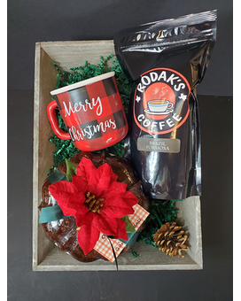 Coffee & Cake Tray Gift Basket