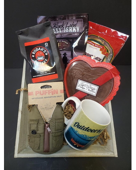 Outdoorsman Gift Tray Gift Basket