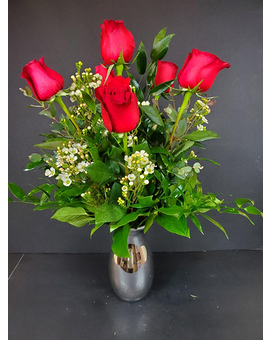 6 Rose Bouquet Flower Arrangement