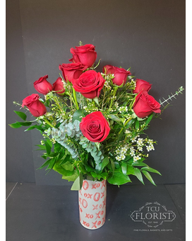 X's And O's Roses Flower Arrangement