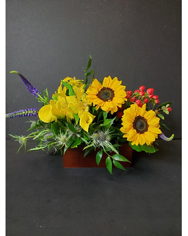 Box Of Blooms Flower Arrangement