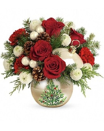 Teleflora's Twinkling Ornament Bouquet Flower Arrangement