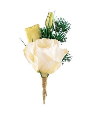 White lisianthus boutonniere in winnipeg mb cosmopolitan florists white lisianthus boutonniere flower arrangement mightylinksfo
