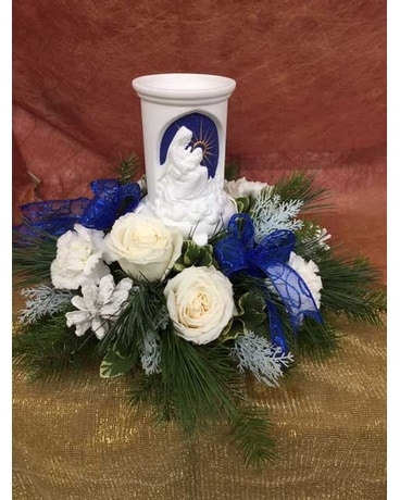 Christmas Nativity Centerpiece Flower Arrangement