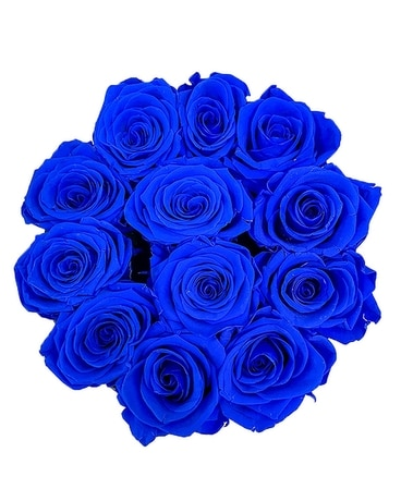 Blue Love (Preserved Roses)