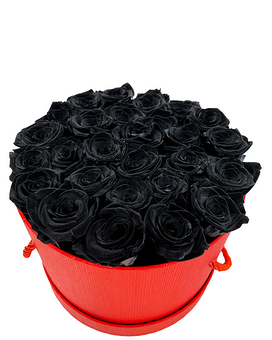 Black Beauty (Preserved Roses) Flower Arrangement