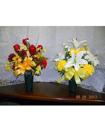 Grave Vases Flower Arrangement