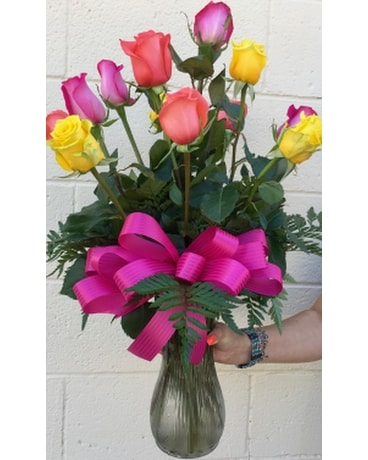 Dz Mixed Long Stem Roses