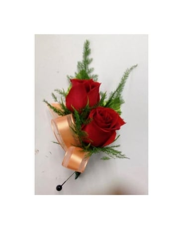 B-12 Red Sweetheart Rose Boutonniere Boutonniere