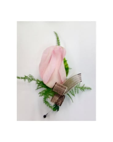Light Pink Rose Boutonniere Boutonniere