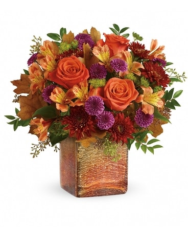 Golden Amber Flower Arrangement