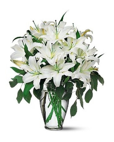 Perfect White Lilies Flower Arrangement