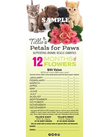 Petals for Paws Card Gifts