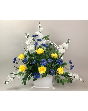 Treasured Sympathy Basket - Artificial Arrangement Flower Arrangement