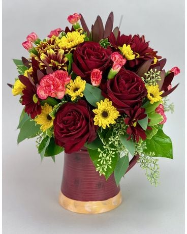 Scarlet Sunset Flower Arrangement