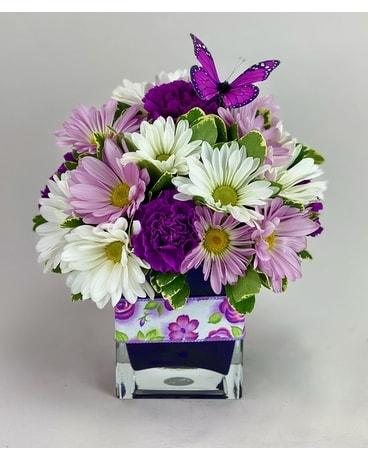 Purple Monach Flower Arrangement
