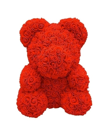 Rose Bear-Pick Your Favorite Color Flower Arrangement