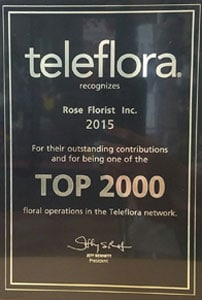 Top 2000 Florists in 2015