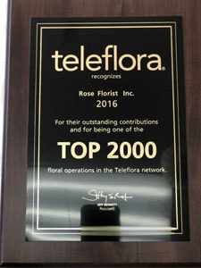 Top 2000 Florists in 2016