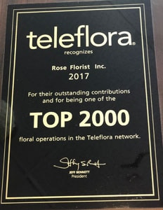 Top 2000 Florists in 2017