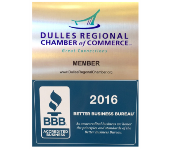 Dulles Regional Chamber of Commerce Member and Accredited BBB 2016