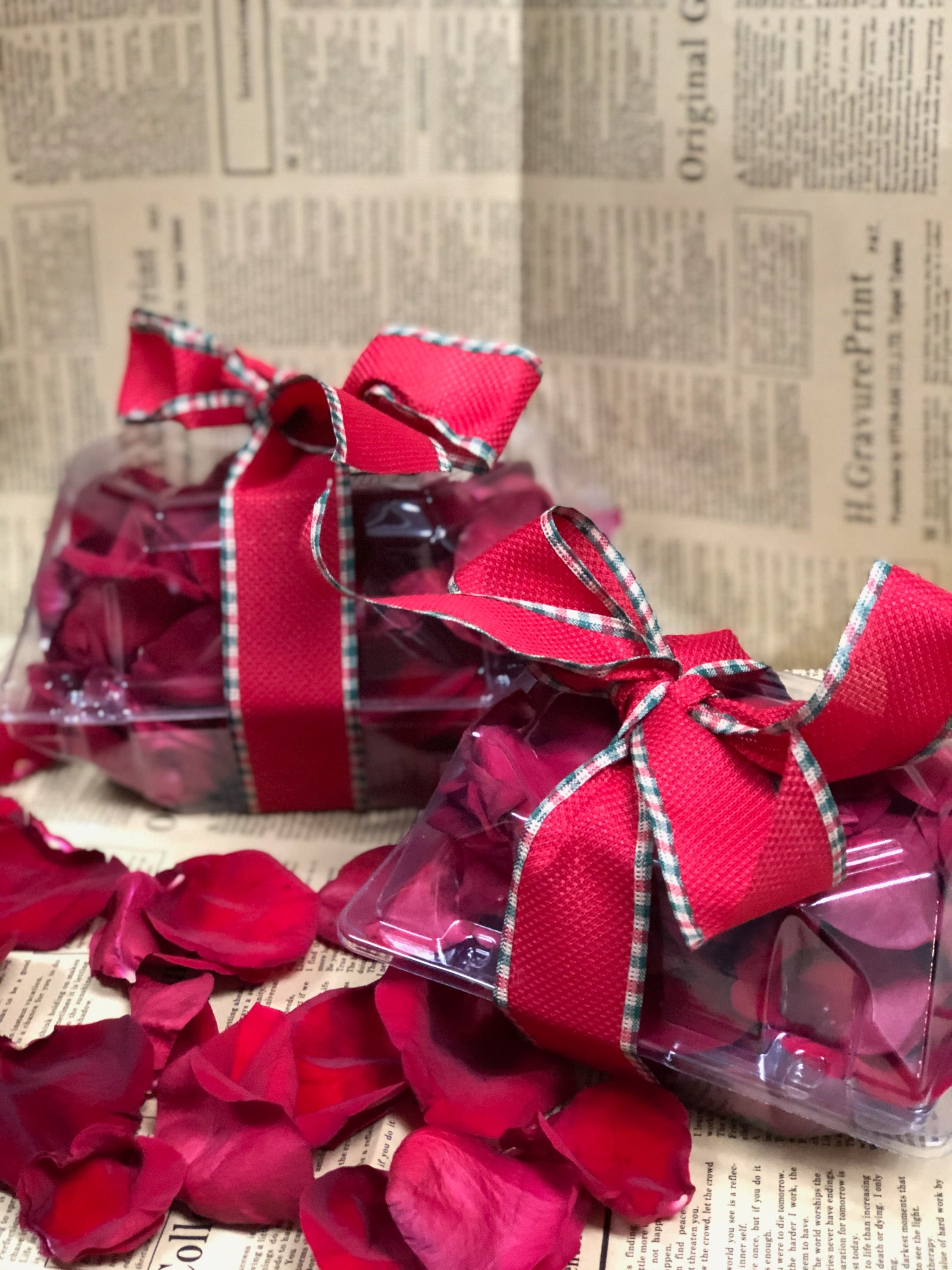 Box of Red Rose Petals