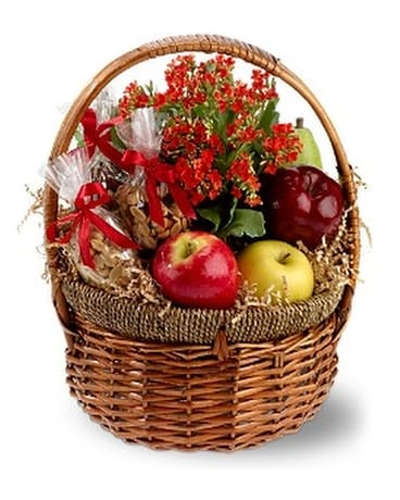 Health Nut Basket Flower Arrangement