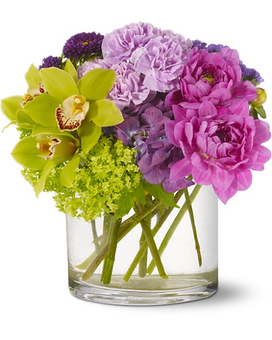 Watercolor Beauty Flower Arrangement