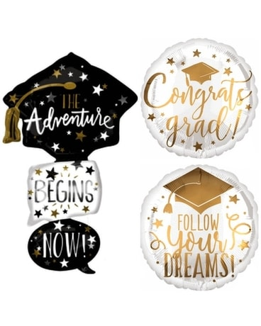 Adventure Awaits Grad Balloon Custom product
