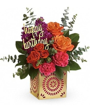 Teleflora's Birthday Sparkle Bouquet Flower Arrangement