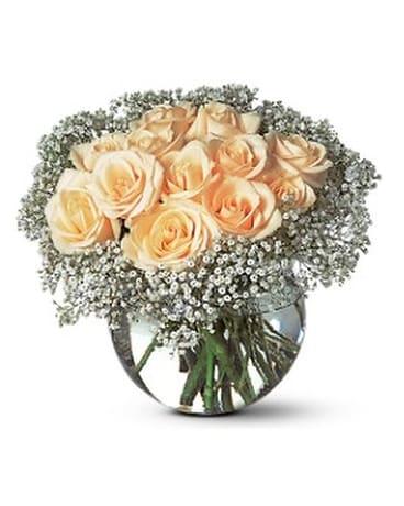 A Dozen White Roses Flower Arrangement