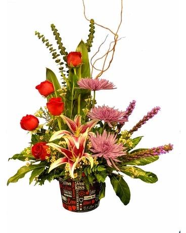 Words Of Love Bouquet Flower Arrangement ...