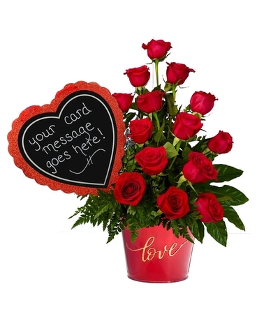 Message of Love Flower Arrangement
