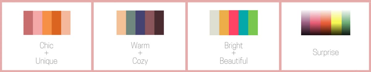 color palettes of subscription arrangements