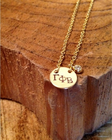 Gamma Phi Circle Necklace