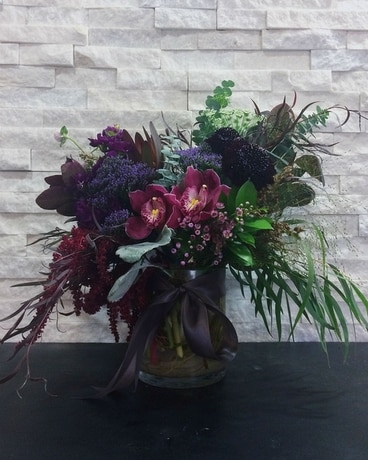 Smoked Mulberry Flower Arrangement