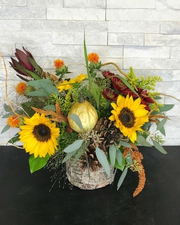 Sunflower Spice Flower Arrangement