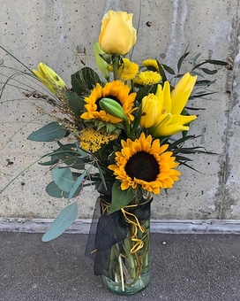 Theta Sunshine Flower Arrangement