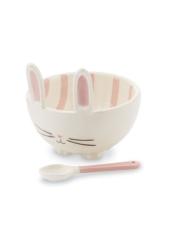 PINK BUNNY CERAMIC CANDY BOWL SET Custom product