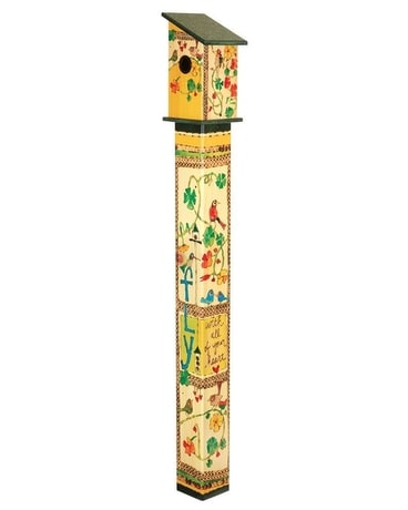 Fly with All Your Heart 5' Birdhouse Art Pole Custom product