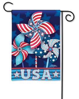 Patriotic Pinwheels Garden Flag Custom product
