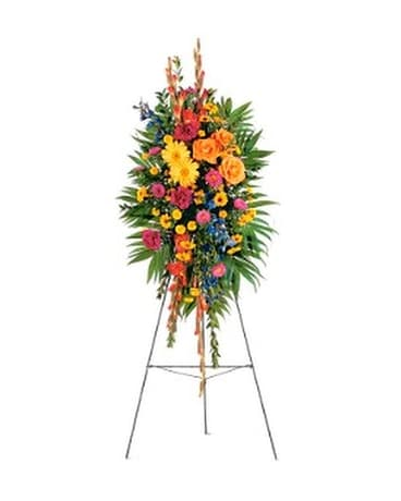 Celebration of Life Standing Spray - by Toni's Flo Flower Arrangement
