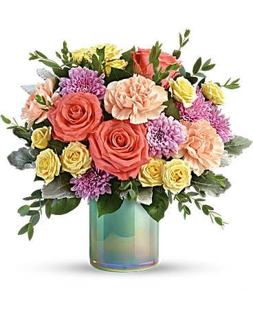Teleflora's Pastel Shimmer Bouquet Flower Arrangement