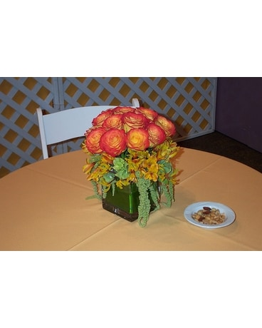 Sierra Sunset centerpiece Wedding Arrangement