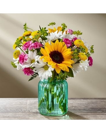 The FTD® Sunlit Meadows™ Bouquet-VASE INCLUDED Flower Arrangement