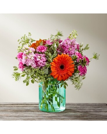 The FTD® Aqua Escape™ Bouquet by Better Homes and Flower Arrangement