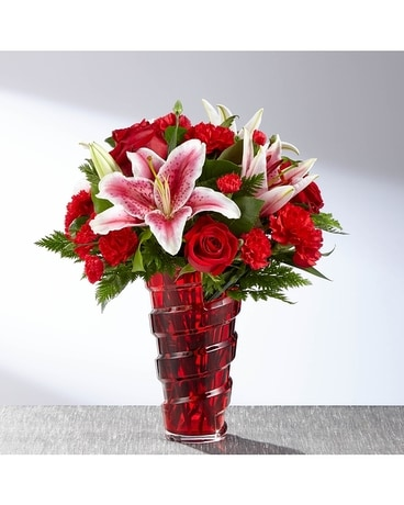 The FTD® Lasting Romance® Bouquet -VASE INCLUDED Flower Arrangement