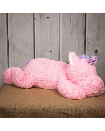 Laying Pink Unicorn 40
