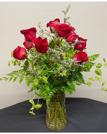 Dozen Roses - Any Color Flower Arrangement
