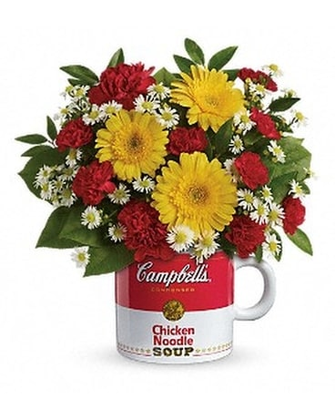 Campbell's Healthy Wishes by Telefloria Flower Arrangement